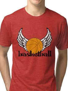 Basketball with Wings Tri-blend T-Shirt