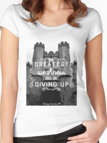 Our Greatest Weakness Women's Fitted Scoop T-Shirt