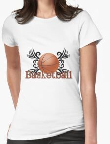 Basketball Tribal Womens Fitted T-Shirt