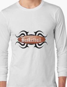 Basketball Tribal Long Sleeve T-Shirt