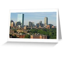 Boston Commons from the Liberty Hotel Greeting Card