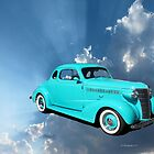 Classic Car Flying in the Sky by Barberelli