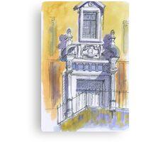 portico igreja de carnaxide Canvas Print