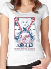 Honky Tonk Angels. Tammy Wynette, Dolly Parton, Loretta Lynn. Nashville, TN. Country Music Women's Fitted Scoop T-Shirt