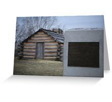 Cabins at Valley Forge Greeting Card