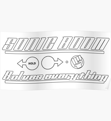 Sonic Boom solves everything (Street Fighter) Poster