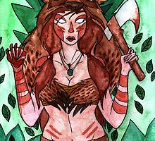 Videogame Babes : Skyrim warrior by Jazmine Phillips