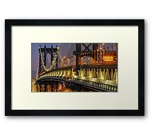 Manhattan Bridge, Study 2 Framed Print