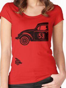 VW Herbie 53 vintage Women's Fitted Scoop T-Shirt