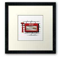 In case of fire.... Framed Print