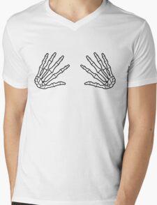 boob grabber skull hands Mens V-Neck T-Shirt