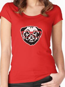 Nerd Pug Women's Fitted Scoop T-Shirt
