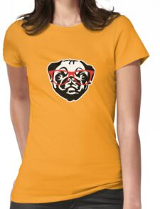Nerd Pug Womens Fitted T-Shirt