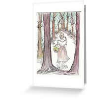 Woman In The Woods Greeting Card