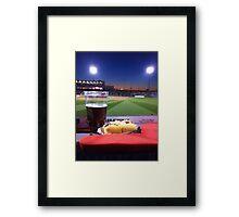 A baseball game. Framed Print