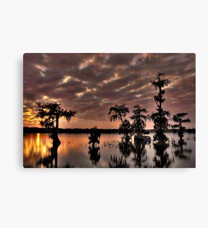 Lake Martin Sunset HDR Canvas Print