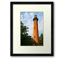 Currituck Beach Lighthouse in Carolla, NC Framed Print