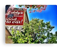 Eddy's Bread Ghost Sign - Iron Front Building Canvas Print