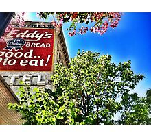 Eddy's Bread Ghost Sign - Iron Front Building Photographic Print