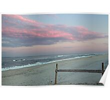 Sunset at the beach Poster