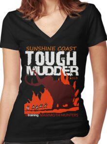 TOUGH MUDDER T-SHIRT 2013 SUNSHINE COAST Women's Fitted V-Neck T-Shirt
