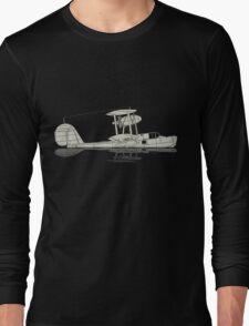 Supermarine Walrus on a Lake Long Sleeve T-Shirt