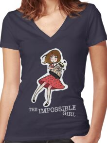 the impossible girl Women's Fitted V-Neck T-Shirt