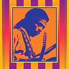 Jimi Hendrix Psychedelic Poster by retrorebirth