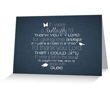 If I Were a Butterfly – 2:3 – Denim  Greeting Card