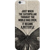 Butterfly Transformation iPhone Case/Skin