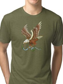 Eagle and Snake T-Shirt Tri-blend T-Shirt