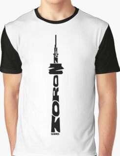 Toronto CN Tower Black Graphic T-Shirt
