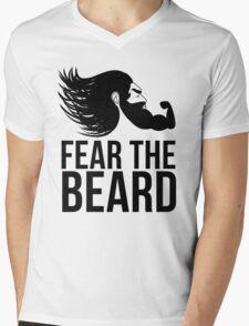 Fear the Beard Mens V-Neck T-Shirt