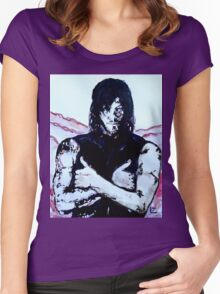 Walking Dead Daryl Dixon Women's Fitted Scoop T-Shirt