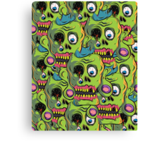 A bunch of Zombie Skulls Canvas Print