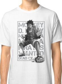 THIS IS MANGA - LUFFY GRAYSCALE 02 Classic T-Shirt