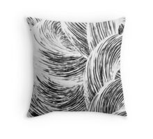 Japanese Wave Abstract Throw Pillow