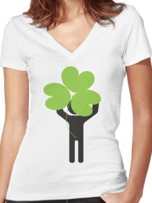 show your huge Irish pride Women's Fitted V-Neck T-Shirt