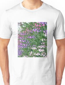Watercolor Effect of Colorful Flowers Unisex T-Shirt