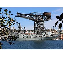 Random Battleship in Sydney Photographic Print