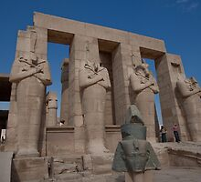 Ramesseum Statuary in Thebes Egypt by Ren Provo