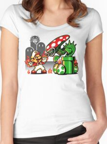 Game Over Man, GAME OVER! Women's Fitted Scoop T-Shirt