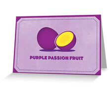 Purple Passion Fruit (Color Palate) Greeting Card
