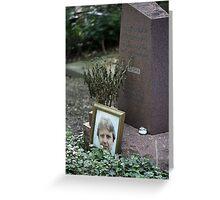 Alexander Sasha Litvinenko at Highgate West Cemetery Greeting Card