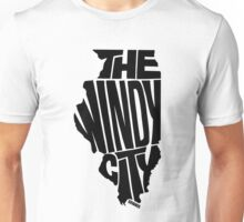 Chicago: The Windy City Black Unisex T-Shirt