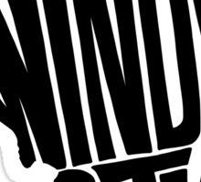 Chicago: The Windy City Black Sticker