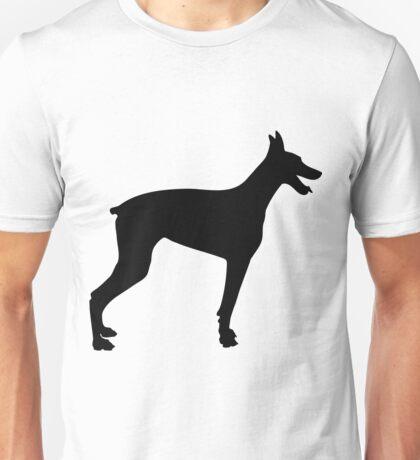 Doberman Silhouette 2 Unisex T-Shirt