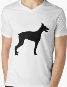 Doberman Silhouette 2 Mens V-Neck T-Shirt