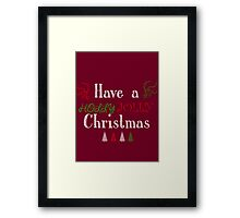 Holly Jolly Framed Print