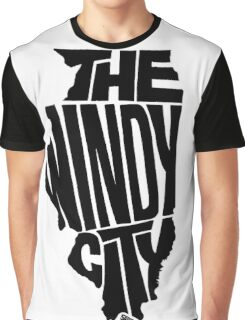 Chicago: The Windy City Black Graphic T-Shirt